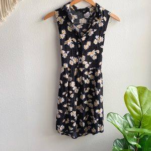 Divided Back Cutout Daisy Floral Dress Sz. 4